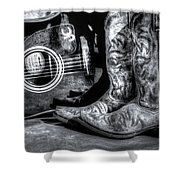 Working Man's Blues Shower Curtain