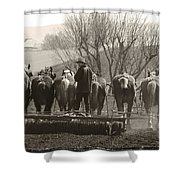 Working Team Shower Curtain