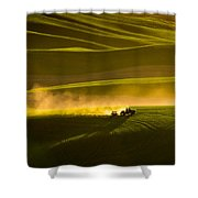 Working The Fields In The Palouse Shower Curtain