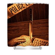 Workplace Violence Shower Curtain