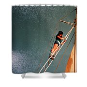 Works On The Atlantic Oceon Late Eightieth Shower Curtain