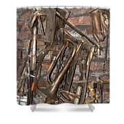 Workshop With Music Shower Curtain