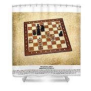 World Chess Champions - Emanuel Lasker - 1 Shower Curtain