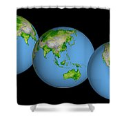 World Globes Shower Curtain