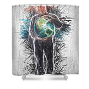 World In His Hands Shower Curtain