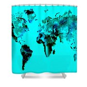 World Map 15 Shower Curtain