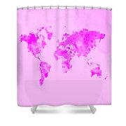 World Map 1n Shower Curtain