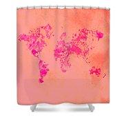 World Map 1p Shower Curtain