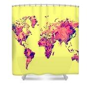 World Map 1t Shower Curtain
