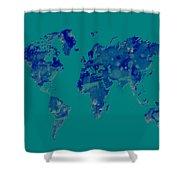 World Map 2b Shower Curtain