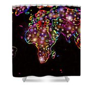 World Map In The Future Shower Curtain by Augusta Stylianou
