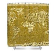 World Map Landmark Collage 10 Shower Curtain