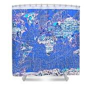 World Map Landmark Collage 8 Shower Curtain