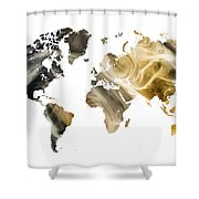 World Map Sandy World Shower Curtain