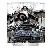 World Of Disney Signage Downtown Disneyland Sc Shower Curtain