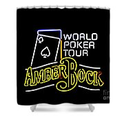 World Poker Tour And Amber Bock Shower Curtain