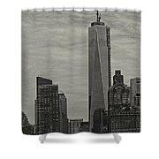 World Trade Center Construction Shower Curtain