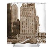 World Trade Center Reconstruction Vintage Shower Curtain