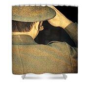 World War 1 Soldier Shower Curtain