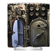 World War 2 Era Submarine Hatch - Pearl Harbor Shower Curtain