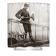 World War I Air Raid Siren Shower Curtain