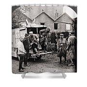 World War I: Ambulance Shower Curtain