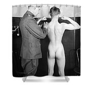 World War I: Examination Shower Curtain