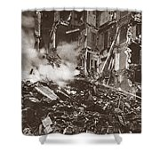 World War I Paris Bombed Shower Curtain