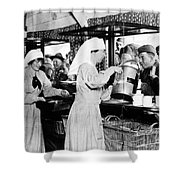 World War I: Red Cross Shower Curtain