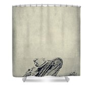 World War I Tank In Trench Warfare Shower Curtain by Edward Fielding