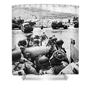 World War II: D-day, 1944 Shower Curtain