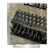 World War II Enigma Secret Code Machine Shower Curtain