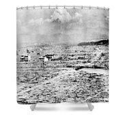 World War II Hiroshima Shower Curtain