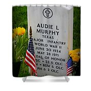 World War II Legend Shower Curtain