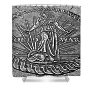 World War II Medallion Bw Shower Curtain