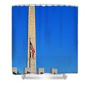 World War II Memorial And Washington Monument Shower Curtain