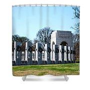 World War II Memorial Shower Curtain