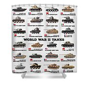 World War II Tanks Shower Curtain