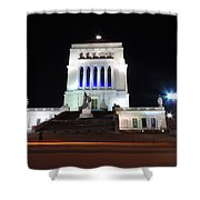 World War Memorial In Indianapolis Shower Curtain