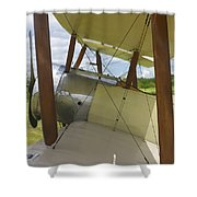 World War One Classic 1916 Sopwith Pup Biplane Shower Curtain