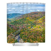 Worlds End State Park Lookout Shower Curtain