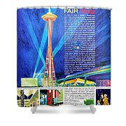 Worlds Fair 1962 Shower Curtain
