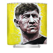 Worlds Greatest Athlete Shower Curtain by Chris Mackie