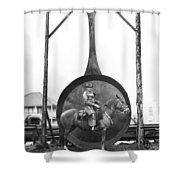World's Largest Frying Pan Shower Curtain