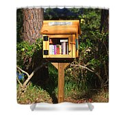World's Smallest Library Shower Curtain