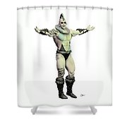World's Strongest Man Circus  Shower Curtain