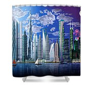 Worlds Tallest Buildings Shower Curtain
