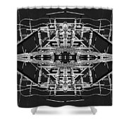 Worm Hole Generator Shower Curtain