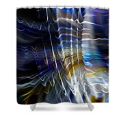 Wormhole Flaring Shower Curtain