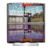 Worms And Coffee Sign Shower Curtain